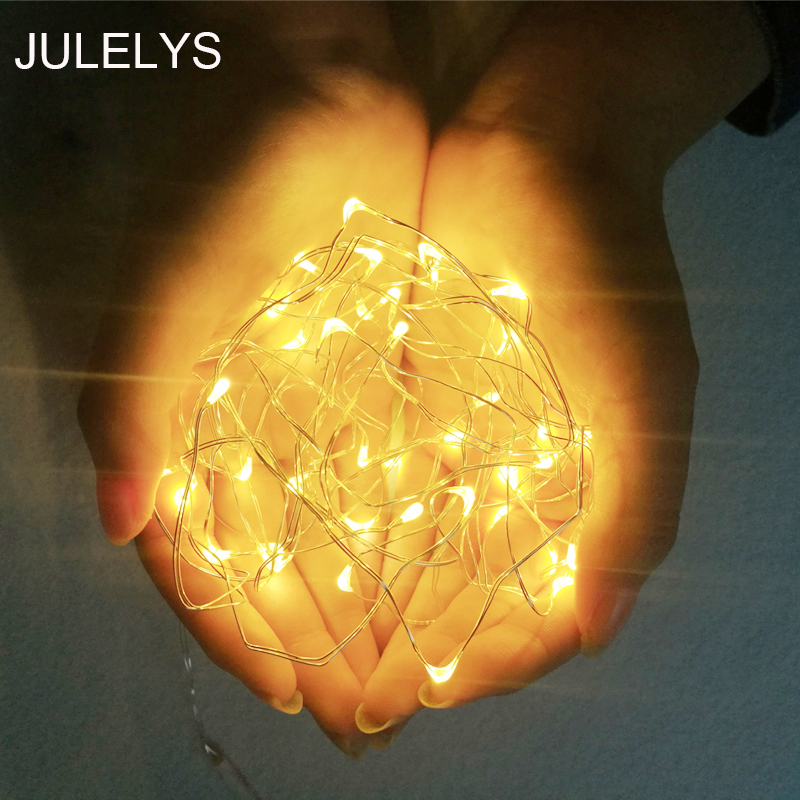 JULELYS 3M 10M Copper Wire LED Garland String Lights Fairy LED Lights Decoration For Living Room Fairy Christmas Lights Outdoor