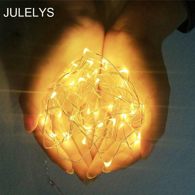 Julelys 3m 10m Copper Wire Led Garland String Lights Fairy Led