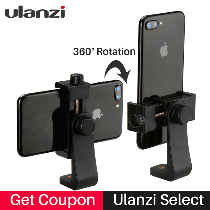Ulanzi Smartphone Tripod Mount Adapter Tripod Clipper Holder Youtube Landscape Shooting Tripod Stand for iPhone X 7 plus Samsung