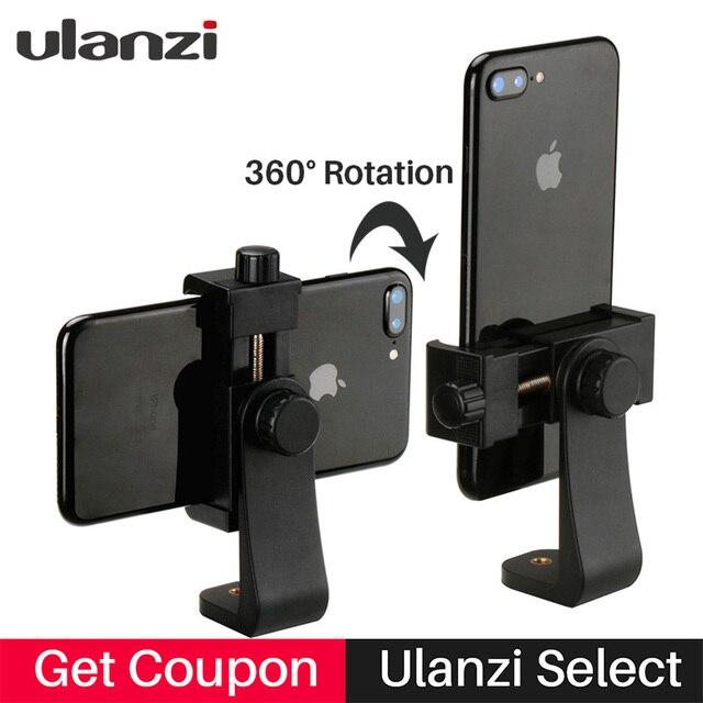 Ulanzi Smartphone Tripod Mount Adapter Tripod Clipper Holder Youtube Landscape Shooting Tripod Stand for iPhone X 7 plus Samsung