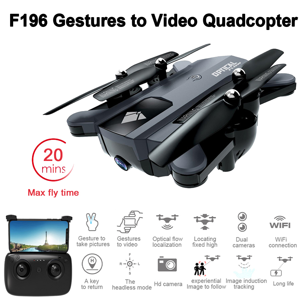 Foldable RC Drone with 2MP HD Camera Optical Flow Localization 20mins Flight Time Mini RC Quadcopter