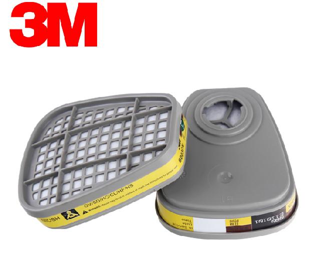 3 M 6003 aprobado POR el NIOSH contra Vapores Orgánicos y Gases Ácidos Protección Respiratoria gas OV/HD/HC/CL/HS amarillo Uso con 3 M máscara M889