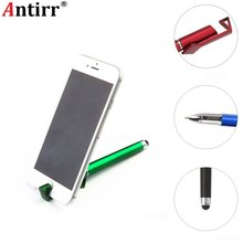 Multifunctionele 3 in 1 Tablet Stylus Touchscreen pen Balpen Telefoon Standhouder Gift Advertentie Logo Custom DIY voor Iphone Samsung(China)