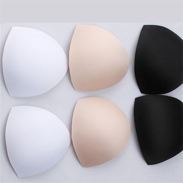 1760da23a5 100pair Foam bra pad swimsuit padding inserts bikini pads push up cups chest  enhancement breast triangle