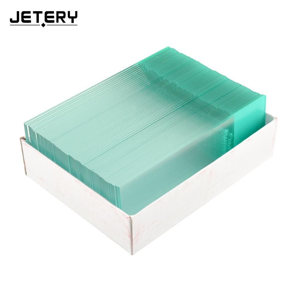 50PCS Professional Real Blank Microscope Slides Cover ground edges Lab