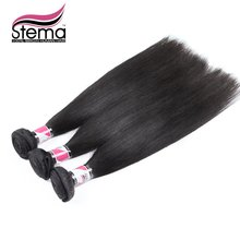 Free Shipping Straight 3pcs/lot 7A Unprocessed Indian Virgin Hair Remy Straight 100% Human Hair Weaving STEMA Hair Extension