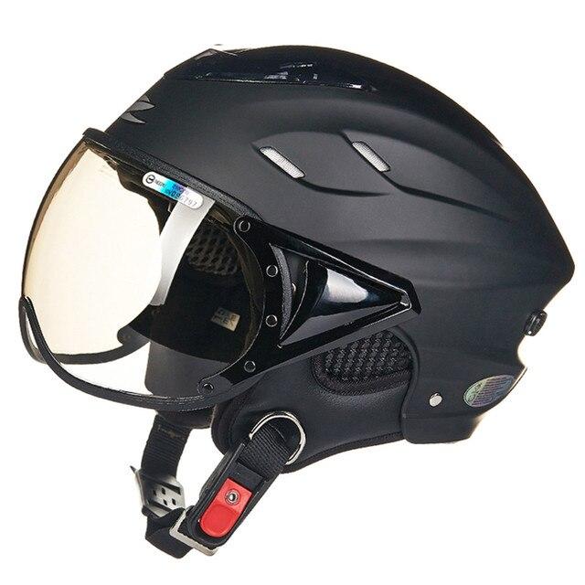 Design Helm honeycomb design motorcycle helmet open half capacete da