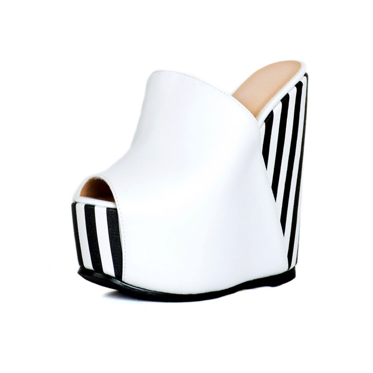 Fashion New Big Size Women And Ladies Platform Heel Wedge Heel Peep Toe Sandals Shoes bohemian style beading and wedge heel design sandals for women