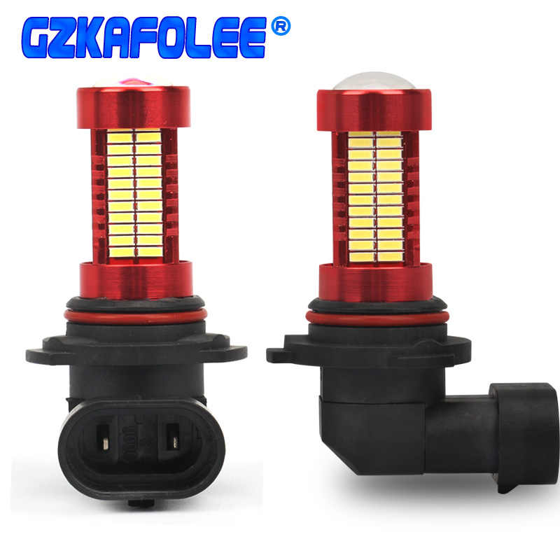 GZKAFOLL Car Headlight Bulbs hb3 h10 hb4 h11 led h8 h9 h16JP 9005 9006 Fog light 12V 24V 20W 2500LM 145 SMD