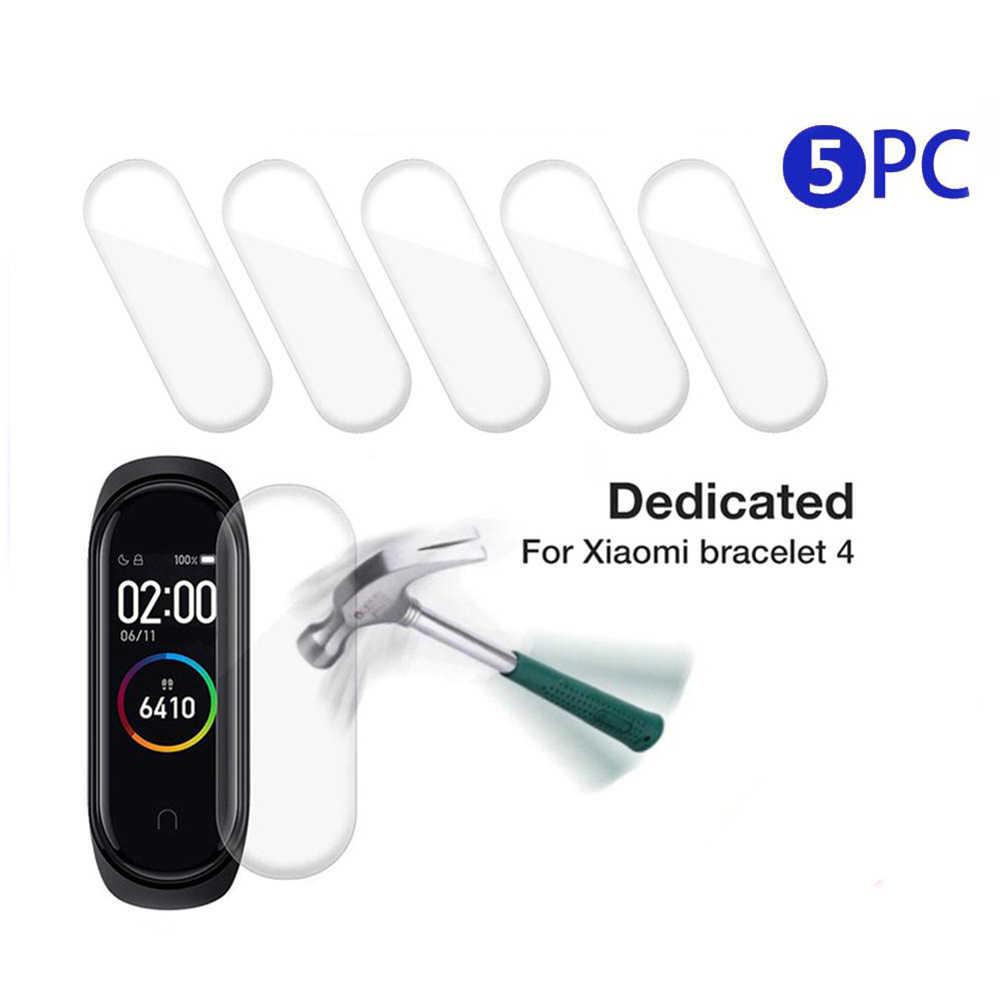5 Pcs Hydrogel Beschermende Protector Film Voor Xiao Mi Mi Band 4 Smart Polsband Armband Mi Band 4 Beschermende Films full Screen