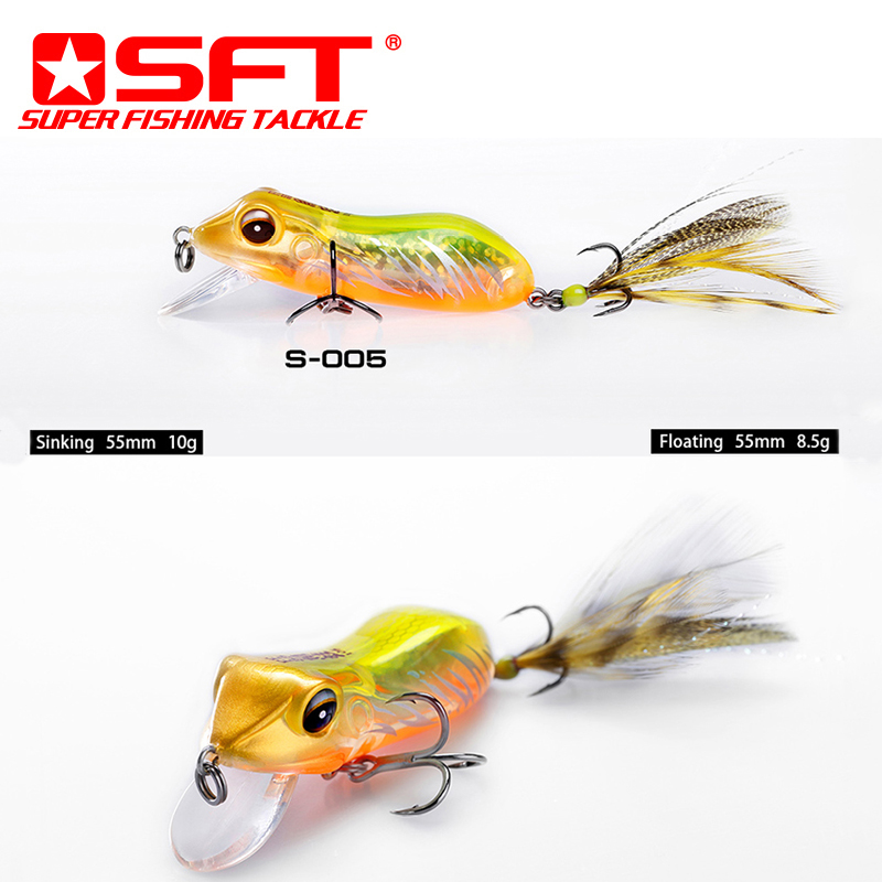 Sft top quality sinking kopper live target frog fishing for Live target fishing lures