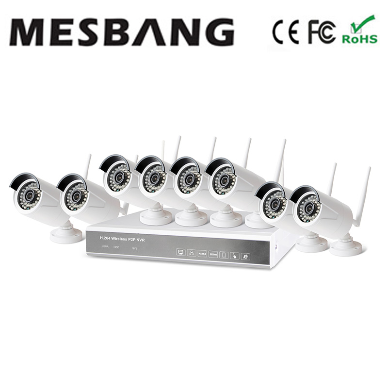 Mesbang  build in 1TB HDD 2.4G wireless IP camera security system nvr kit play and plug   free shipping by DHL Fedex very fast 2017 mesbang 960p 4ch camera security wireless set wifi nvr kits good for small shop and office using delivery by dhl fedex
