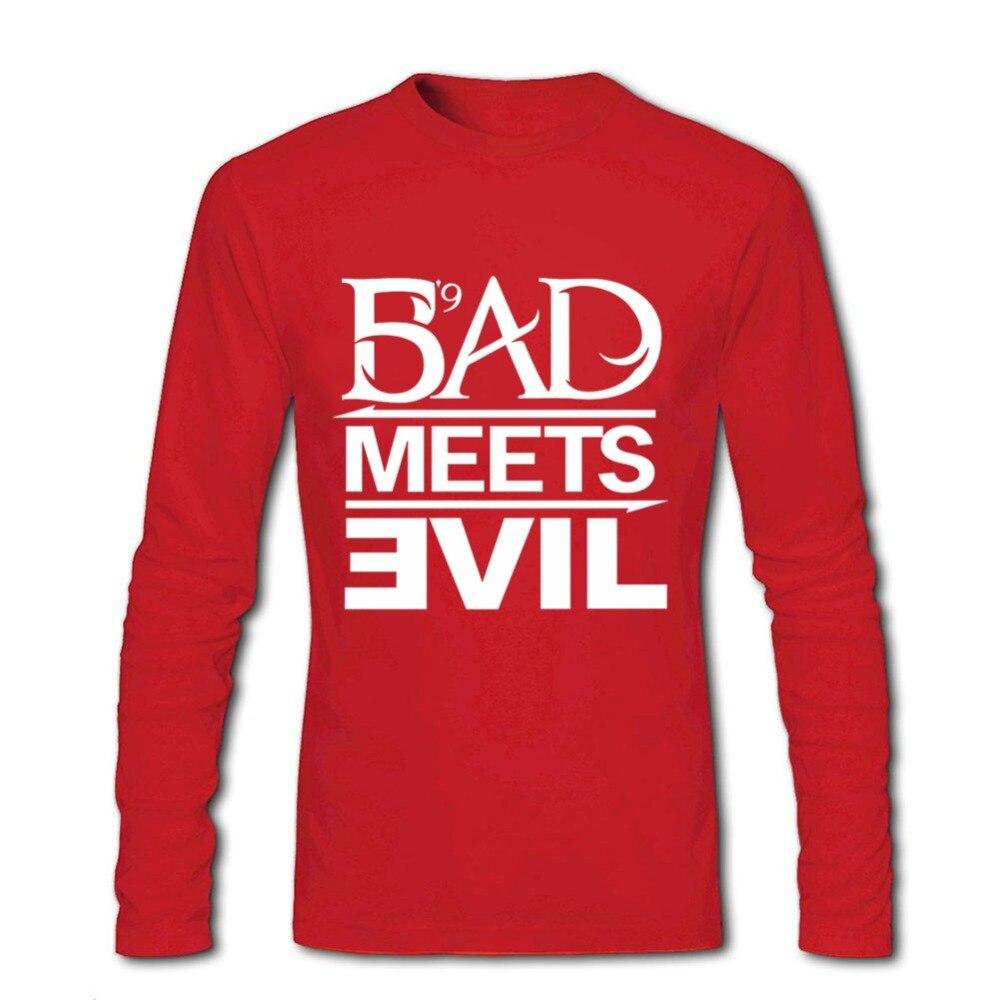 rock rap Bad hombres Eminem hombres nueva para camiseta Meets Evil wIggnU