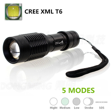 Portable lanterna 5000LM Cree XML T6 Focus LED flashlight 5000 lumens Led torch 18650 battery or 3* AAA for bike camp torchlight