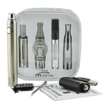 Sub два Мода портативный 4 in1 испаритель электронная сигарета mod комплект с Evod моды батареи воск сухой травы VAPE ручка распылитель