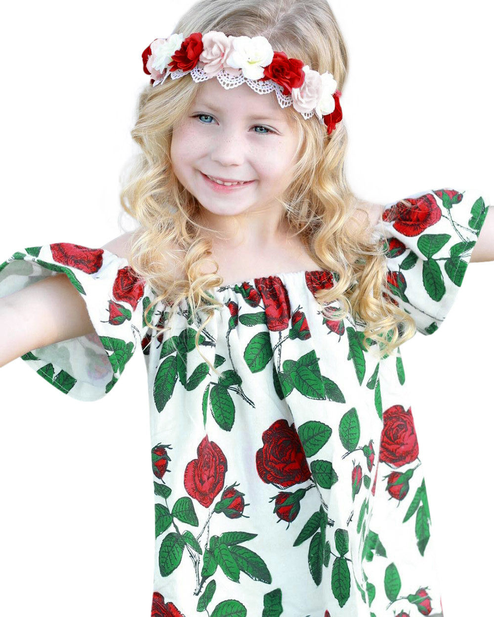 costume for kids Summer Baby Girls Infant Floral Tassel Off-Shouder Clothes Jumpsuit Rompe Outfits girl party dresses