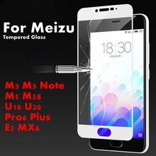 2.5D 9H Full Cowl Tempered Glass Display screen Protector For Meizu E2 M3 M5 Be aware M5S U10 U20 Professional 6 Plus MX6 Toughened Movie Entrance Cowl