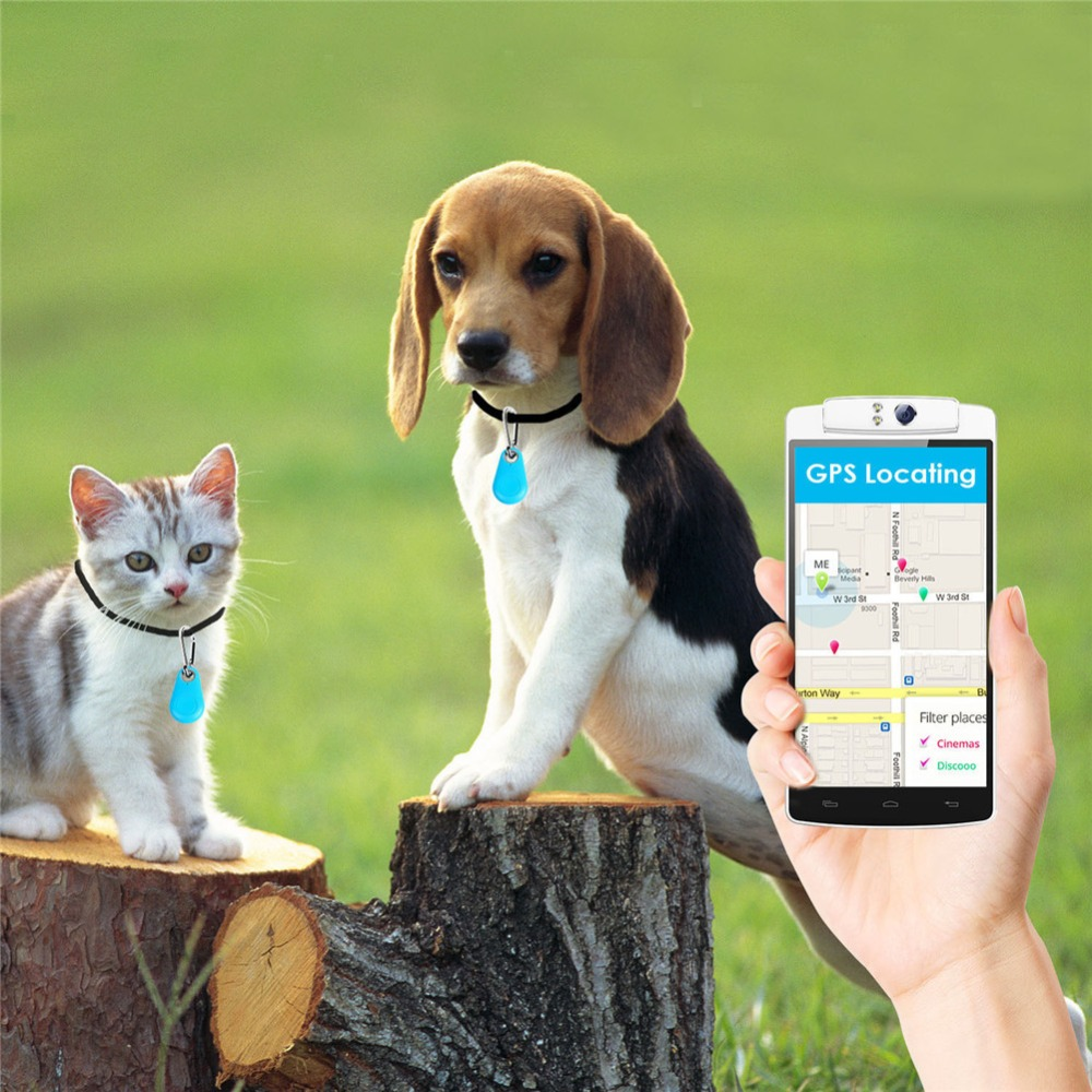 New Modern Mini GPS Tracker Anti-Lost Waterproof Bluetooth Tracer For Pet Dog Cat Keys Wallet Bag Kids Trackers Finder Equipment