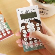 1 pcs Random Color Solar Power Calculator 10digits Scientific Calculator Portable Students Solar Power Calculator