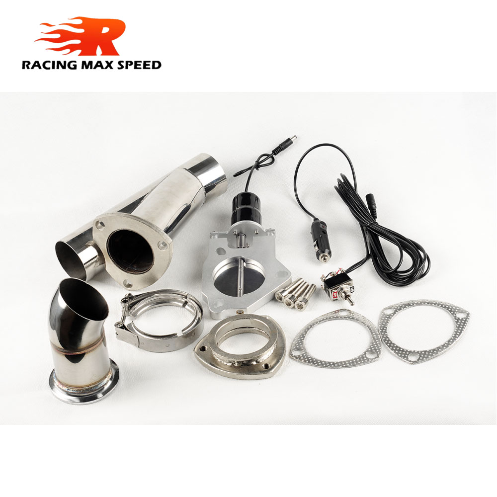New 2 5inch exhaust cutout pipe with switch Manual control for universal exhaust and akrapovic car