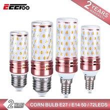 E27 светодиодный светильник E14 светодиодный лампы SMD2835 220V Светодиодная лампа-кукуруза 50 72 светодиодный s Высокое Яркость люстра Свеча светильник для украшения дома ампулы