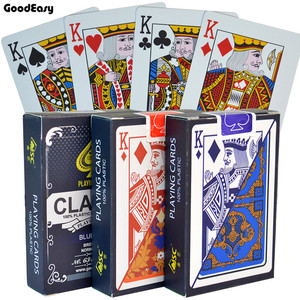 PVC Poker Cards Waterproof Texas Hold'em Playing Cards Black Jack Plastic Game Card Poker Game Board Game Card Creative Gift(China)