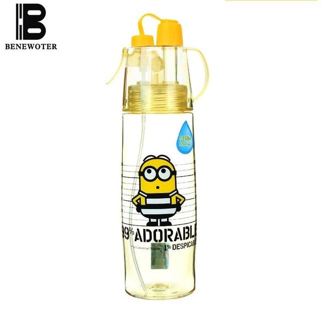 Lovely Cartoon Plastic Water Bottle Portable Atomizing Bottles ...