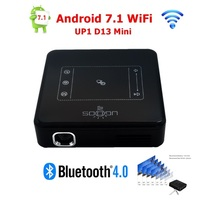 CRENOVA мини D13 DLP проектор с умная сенсорная панель Android WIFI Bluetooth 150 ANSI люмен 4 K проектор LED проектор домашнего Кино