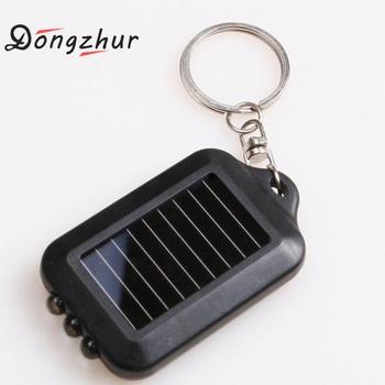 цена на Black Mini Portable Solar Power 3 LED Light Keychain Keyring Torch Flashlight Outdoor Emergency Light Tools