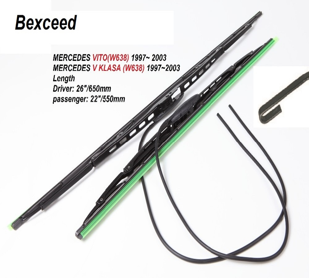 Bexceed of (26+22) 1 Set High Quality Rubber Windshield Car Wiper Blade For MERCEDES VITO w638 or MERCEDES V KLASAW) цена