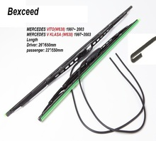Bexceed of (26″+22″) 1 Set High Quality Rubber Windshield Car Wiper Blade For MERCEDES VITO  w638  or MERCEDES V KLASAW)