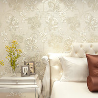 Italian Luxury Silk Fabrics Wall Paper Modern Wallpaper 3D TV Background Wall Papel De Parede 3d