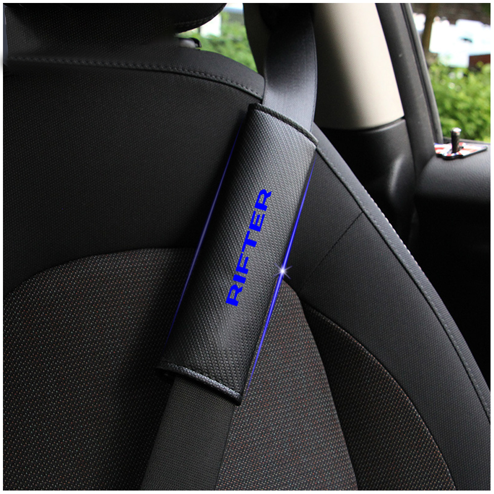 Image 2 - For Peugeot Rifter Car Seat Belt Shoulder Strap Protect Pads Cover No Slip No Rubbing Soft Comfort 2Pcs Red Blue White-in Seat Belts & Padding from Automobiles & Motorcycles