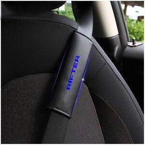 Image 2 - עבור Peugeot Rifter רכב חגורת בטיחות כתף רצועת להגן רפידות כיסוי לא להחליק לא שפשוף רך נוחות 2 Pcs אדום כחול לבן