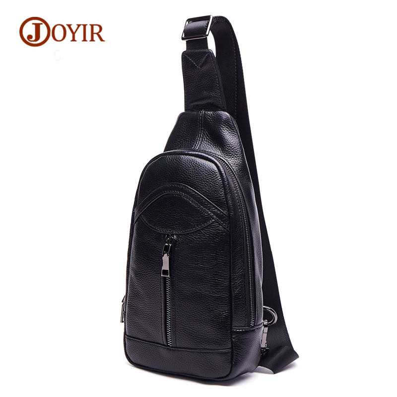 JOYIR Top Quality Messenger Bags Male Genuine Leather Chest Bag For Men Small Crossbody Bag Cow Leather Brand Men Bag