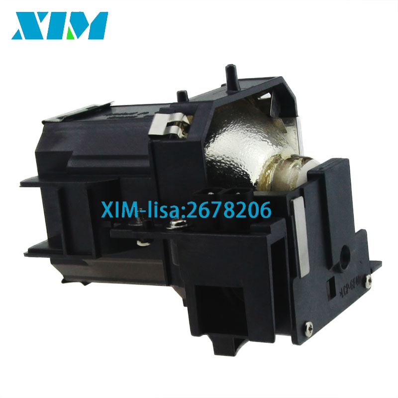 10PCS/Lot Replacement projector lamp ELPLP39 / V13H010L39 with Housing for Epson EMP TW1 ...