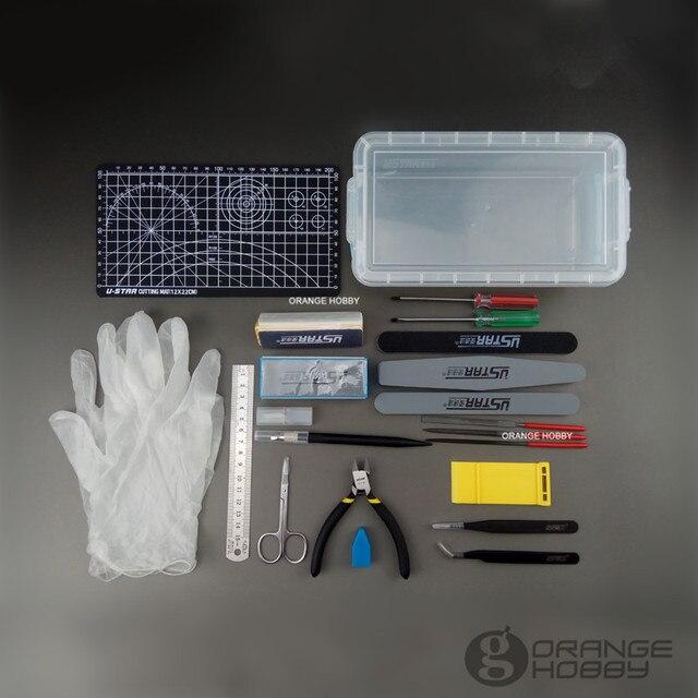 Ustar 90067 Basic Tool Set 22Items/Set DIY Suite Of Tools Model Kit Tools Accessory