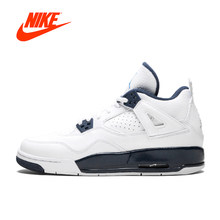 cbaf9079f787a8 Original New Arrival Authentic Nike Air Jordan 4 Retro BG Legend Blue Women s  Basketball Shoes Sport Outdoor Sneakers 408452-107