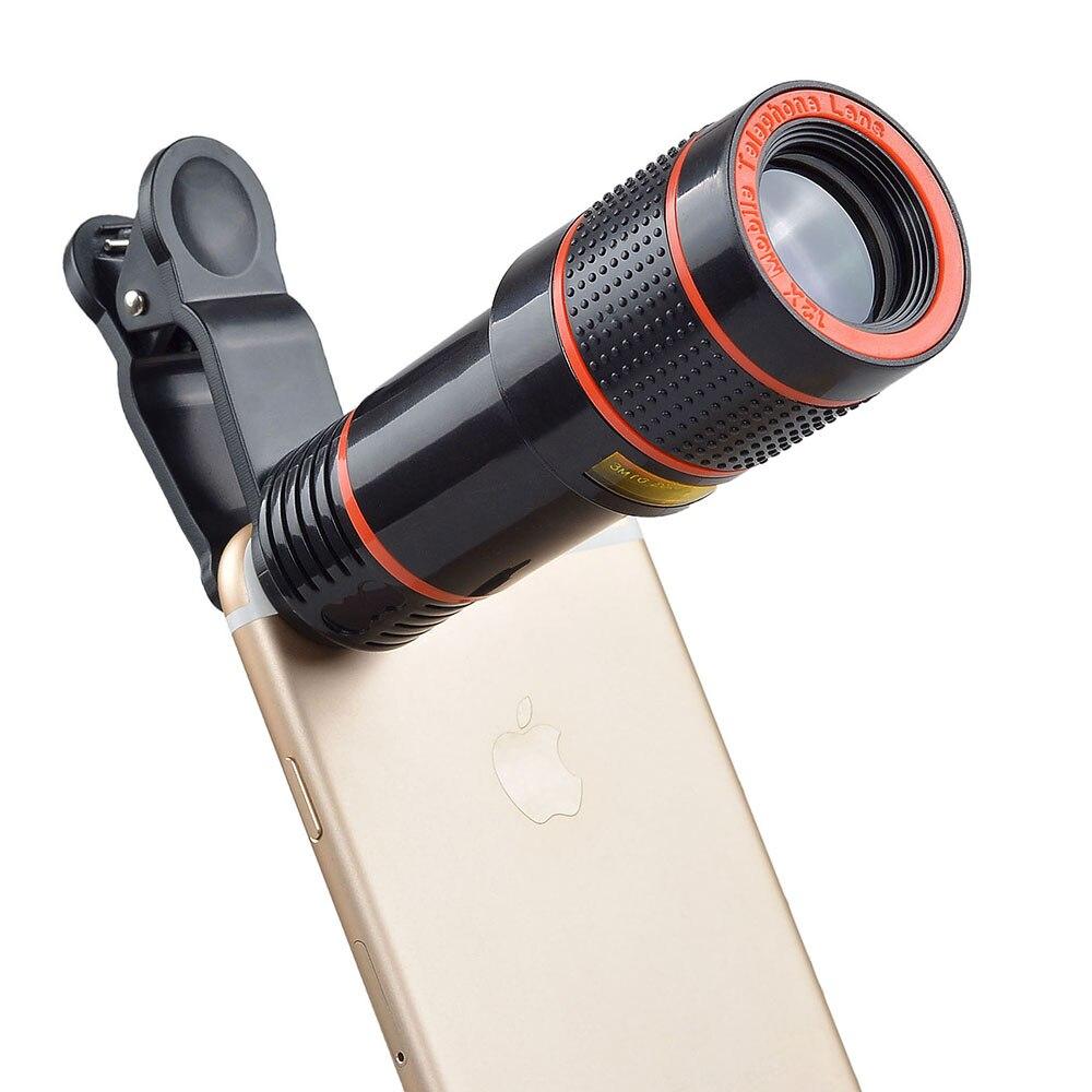 12X Zoom Mobile Téléphone Objectif pour iPhone7 6 6 s plus Samsung S7 S6 bord Smartphones Clip Télescope Lentille avec Trépied APL-HS12X