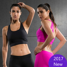 2017 Vansydical Professional Absorb Sweat Athletic Running Sports Bra Cropped Feminino Tops Gym Fitness Women Yoga Vest Tanks