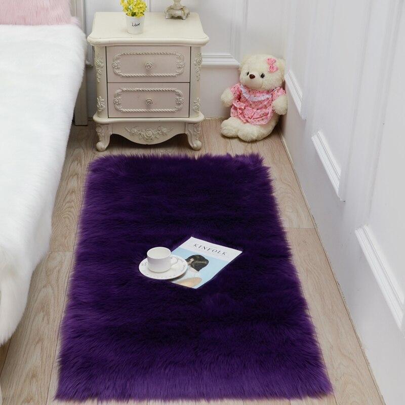Imitation laine salon mode fourrure tapis en peluche chambre chevet tapis table basse tapis baie fenêtre coussin fenêtre DT-50 - 2