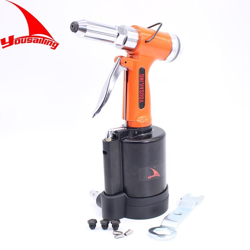 YOUSAILING 2.4MM-4.8MM Pneumatic Riveter Tool Blind Rivet Guns Air Riveter Gun Pneumatic Riveting Tools