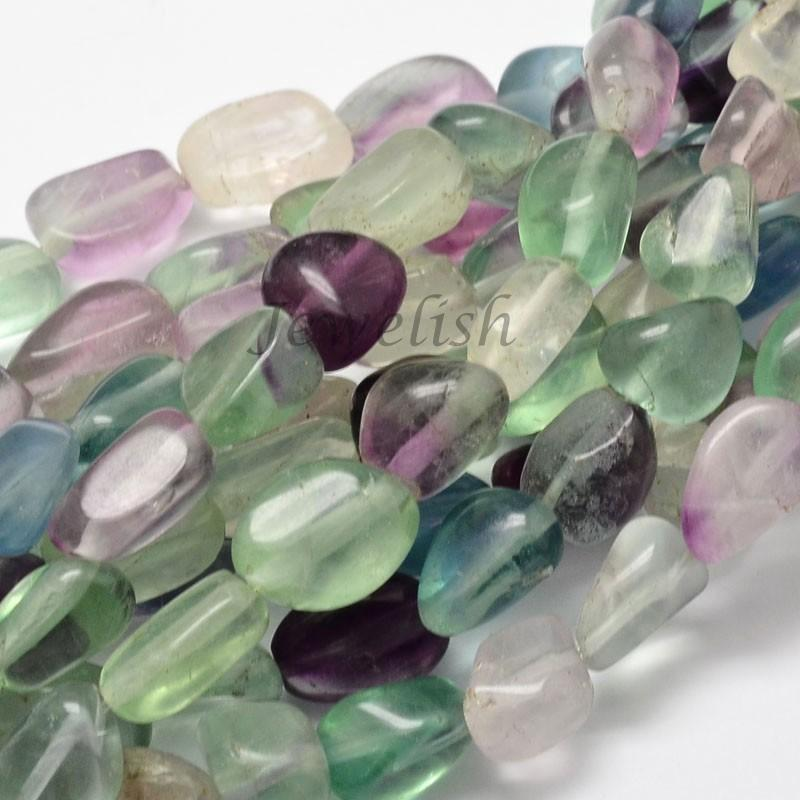 "Natural Fluorite Nuggets Bead Strands, 13~18x10~13mm, Hole: 1mm; about 21~26pcs/strand, 15.74""(China (Mainland))"