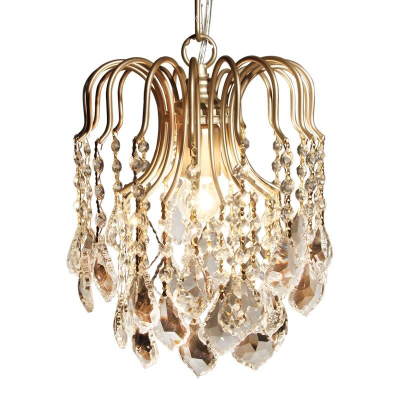 Luminaires suspendus moderne cristal K9 allée pendentif LED lampe luminaires suspendus abajour pour salle à manger salon chambre cuisine