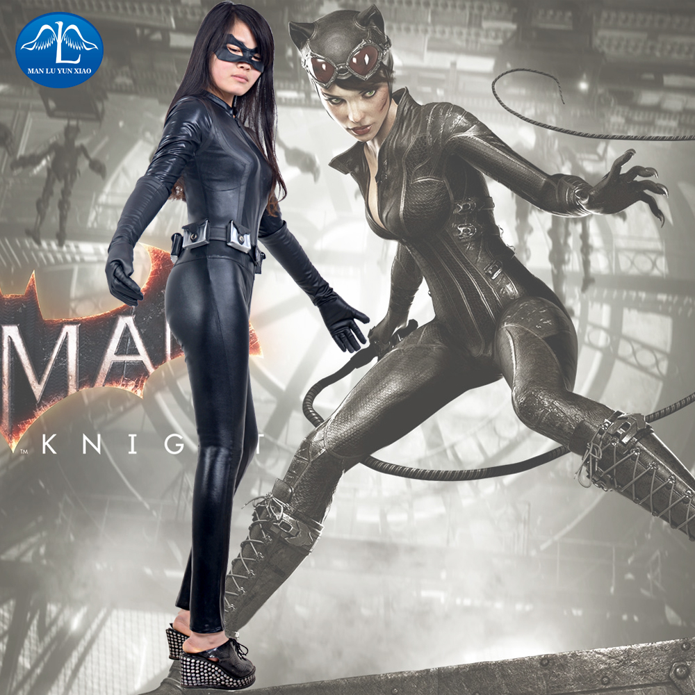 MANLUYUNXIAO Catwoman Cosplay Costume The Dark Knight Rises Catwoman Costume Sexy Jumpsuits font b Suit b