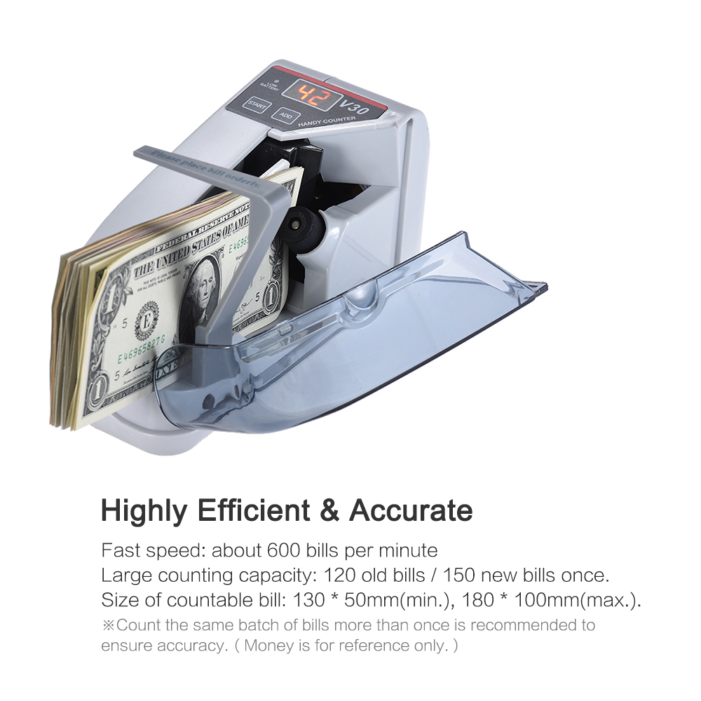 Currency-Counting-Machine Counter-Money Cash Banknote Bill Handy Mini For Dollar EU US