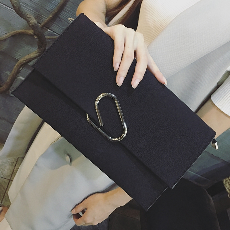 2017 Fashion Trend New Day Clutches Bags Lady Handbag Female Hand Bags Simple Envelope Women Leather Handbags Purse bolsos mujer new 2015 fashion women day clutches shiny red and black evening clutch handbag female bolsa feminina pequena lady purse hand bag