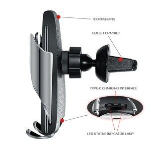 Image 2 - Qi Drahtlose Auto Ladegerät 10W Schnelle Lade Halter Kompatibel Automatische Spann Schnelle Lade Telefon Halter Halterung Für Smartphone