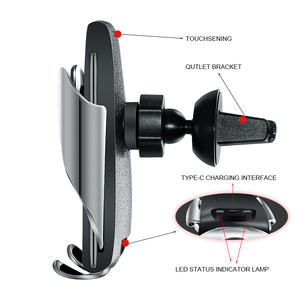 Image 2 - qi Wireless Car Charger 10W Fast Charging Holder Compatible Automatic Clamping Fast Charging Phone Holder Mount For Smart Phone