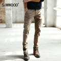 Simwood Men Casual Pants 2016 New Arrival Brand Long Slim Fit Trousers Mens Pantalon Homme Plus Size Free Shipping KX442